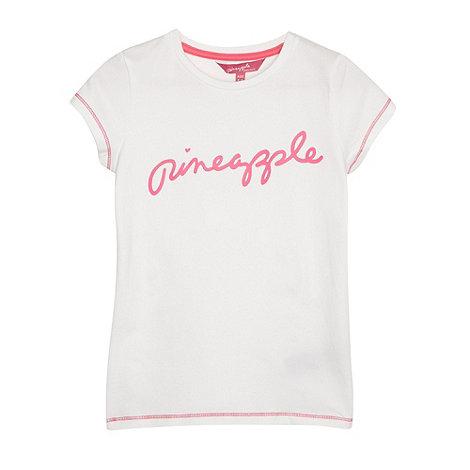 Pineapple - Girl+s white classic logo t-shirt