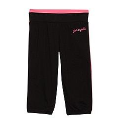 Pineapple - Girl's black cropped jogging bottoms