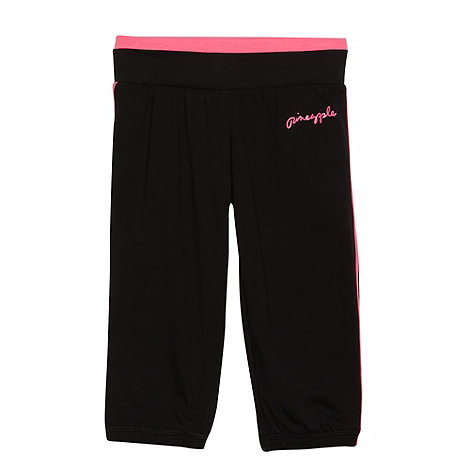 Pineapple - Girl+s black cropped jogging bottoms