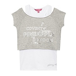 Pineapple - Girl's grey 2-in-1 crop top and vest