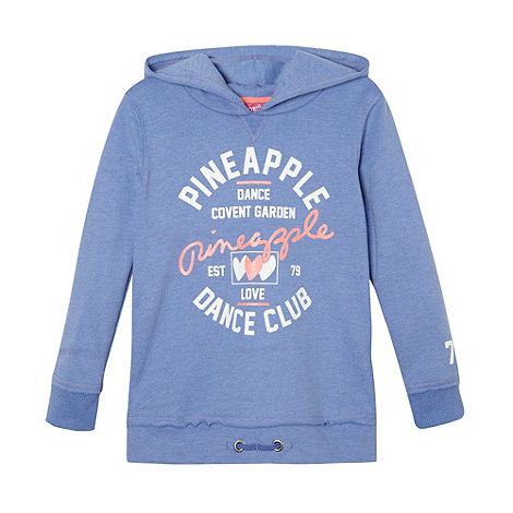 Pineapple - Girl+s blue logo sweat hoodie