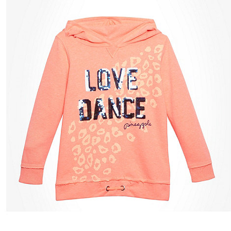 Pineapple - Girl's coral 'Love Dance' sweat hoodie