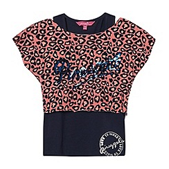 Pineapple - Girl's coral 2 in 1 animal top