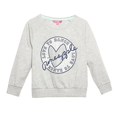Pineapple - Girl+s grey +Love To Dance+ sweat top