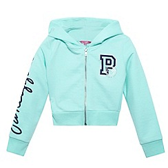 Pineapple - Girl's aqua cropped zip through hoodie