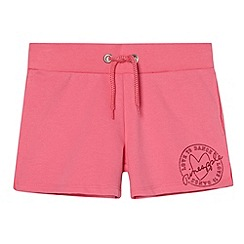 Pineapple - Girl's pink patch logo sweat shorts