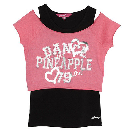 Pineapple - Girl+s pink two piece top