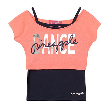 Pineapple - Girl+s coral two in one top