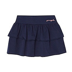 Pineapple - Girl's navy tiered jersey skirt