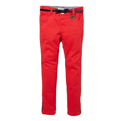 J by Jasper Conran - Designer girl+s red charm skinny jeans