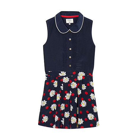 J by Jasper Conran - Designer girl+s navy floral playsuit