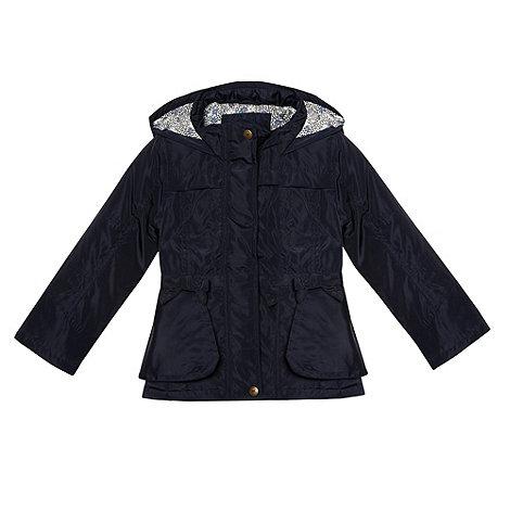 J by Jasper Conran - Designer girl+s navy bow coat