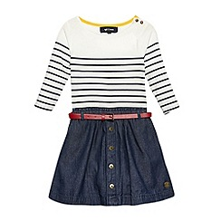 J by Jasper Conran - Designer girl's off white striped denim skirt dress