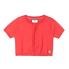 J by Jasper Conran - Designer girl's pink short sleeved cardigan