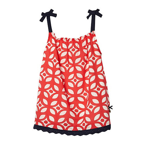 J by Jasper Conran - Designer girl+s red geometric flower vest