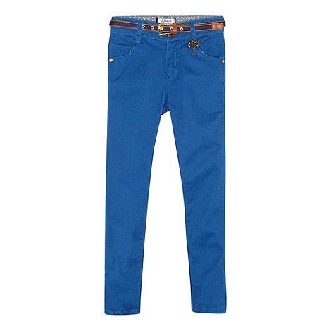 J by Jasper Conran - Designer girl+s blue belted skinny jeans