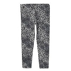 bluezoo - Girl's grey leopard print leggings