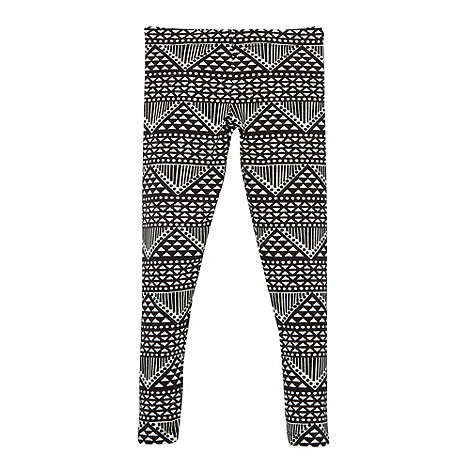 bluezoo - Girl+s black aztec print leggings