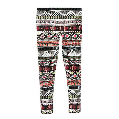 bluezoo - Girl+s black aztec pattern leggings
