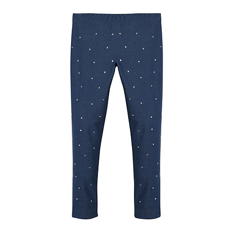bluezoo - Girl's blue diamante leggings