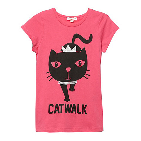 bluezoo - Girl+s pink +Catwalk+ t-shirt