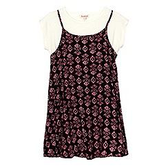 bluezoo - Girl's black two piece dress set