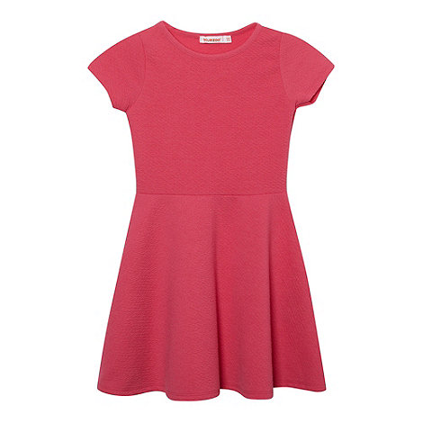 bluezoo - Girl+s pink textured skater dress