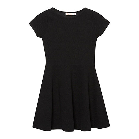 bluezoo - Girl's black textured skater dress