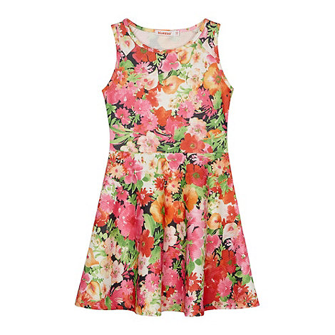 bluezoo - Girl+s orange neon floral dress