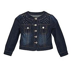Star by Julien Macdonald - Designer girl's dark blue studded denim jacket