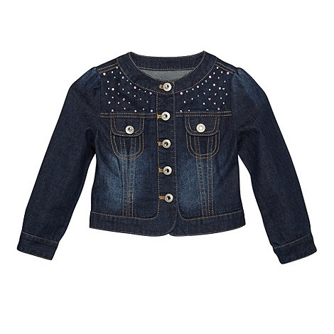 Star by Julien Macdonald - Designer girl+s dark blue studded denim jacket