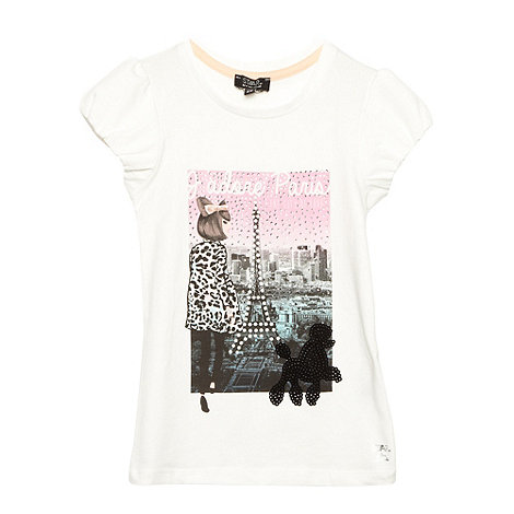 Star by Julien Macdonald - Designer girl+s off white Paris print t-shirt and headband set