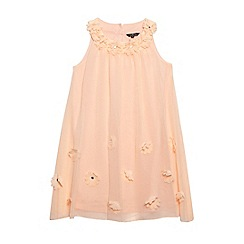 Star by Julien Macdonald - Designer girl's peach applique flower dress