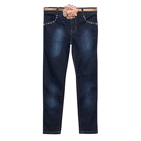 Star by Julien Macdonald - Designer girl+s blue studded corsage belt jeans