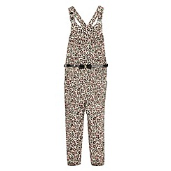 Star by Julien MacDonald - Designer girl's peach animal print jumpsuit