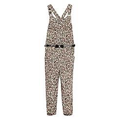 Star by Julien Macdonald - Designer girl's peach animal print jumpsuit