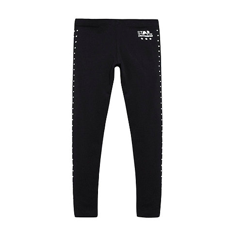 Star by Julien Macdonald - Designer girl+s black side studded leggings