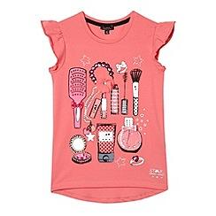 Star by Julien MacDonald - Designer girl's pink makeup printed t-shirt
