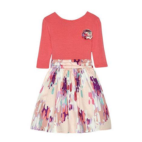 RJR.John Rocha - Designer girl+s pink corsage dress