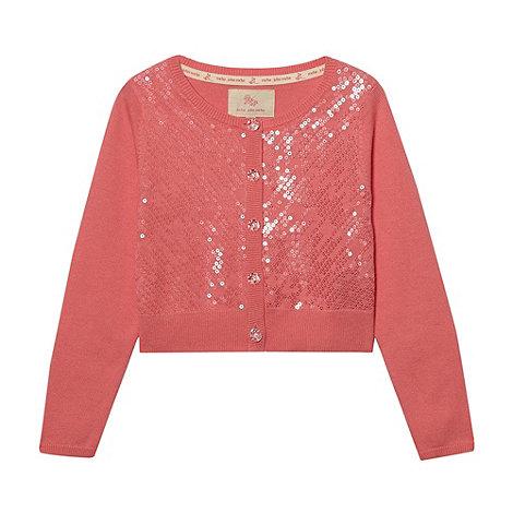 RJR.John Rocha - Designer girl+s pink sequin front cardigan