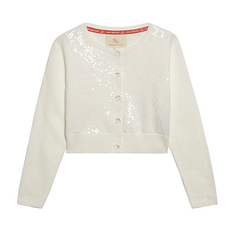 RJR.John Rocha - Designer girl+s cream sequin front cardigan
