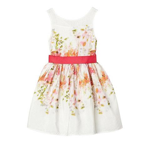 RJR.John Rocha - Designer girl+s pink floral prom dress