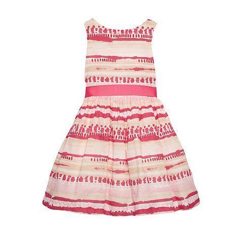 RJR.John Rocha - Designer girl+s pink watercolour striped dress