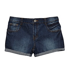 bluezoo - Girl's dark blue denim shorts
