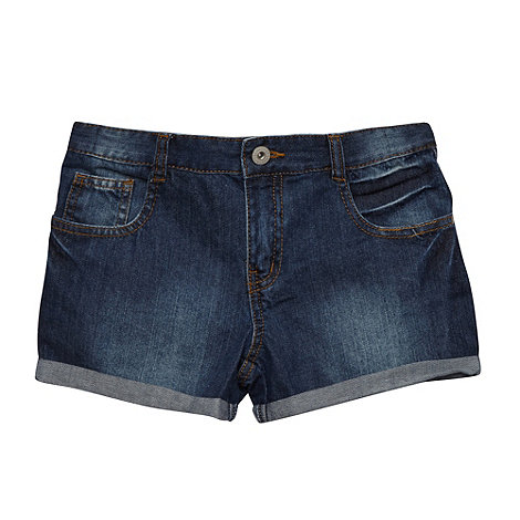 bluezoo - Girl+s dark blue denim shorts