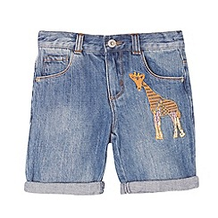 bluezoo - Girl's blue midi giraffe shorts