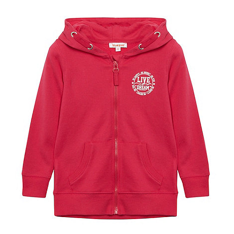 bluezoo - Girl+s dark pink +Live and Dream+ zip through hoodie