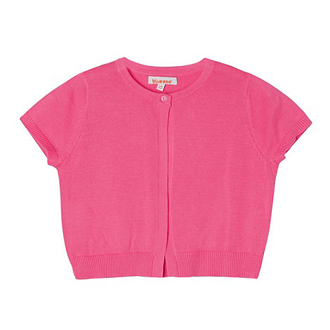 bluezoo - Girl+s bright pink knitted bolero