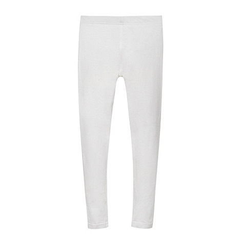 bluezoo - Girl+s white plain leggings