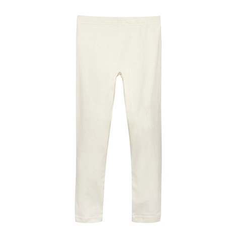 bluezoo - Girl+s cream plain leggings